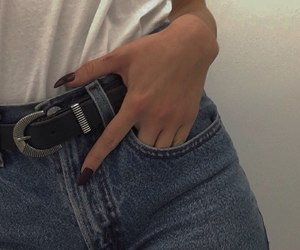jeans, nails, and aesthetic image