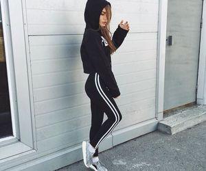 girl, adidas, and style image