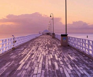 wallpaper, pink, and bridge image