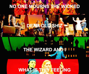 songs, wicked, and elphaba image