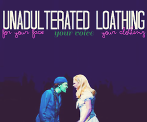 wicked, elphaba, and what is this feeling image