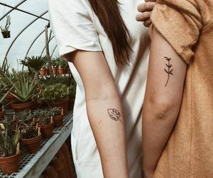 best friends, tattoo, and cute image