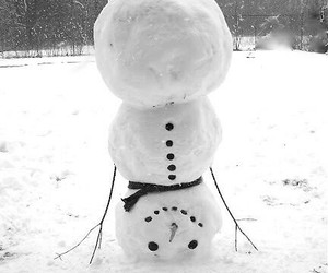 snowman, snow, and winter image