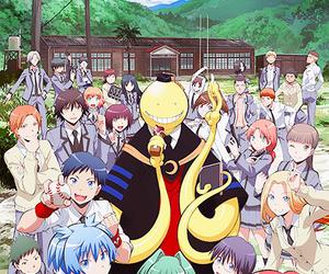 karma, misaki, and koro sensei image