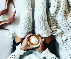 coffee, style, and shoes image