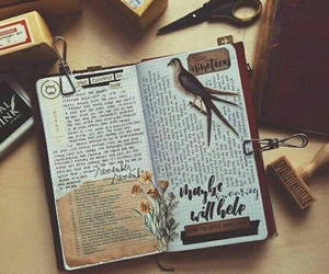 journal, book, and notebook image