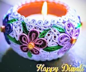 diwali, indian, and lights image