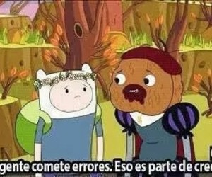 adventure time, hora de aventura, and mistakes image