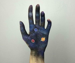 body art, paint, and galaxy image