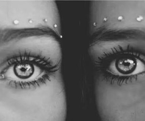 eyes, black and white, and friends image