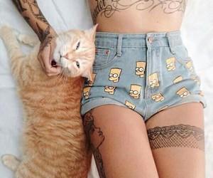 cat short tattos image