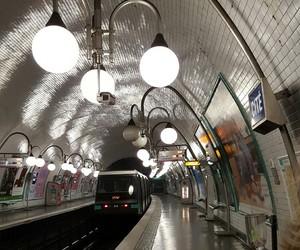 lamp, metro, and paris image