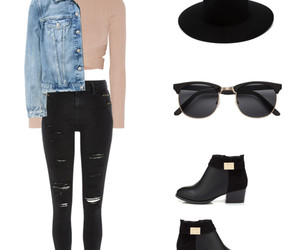 ankle boots, mock neck, and clothes image