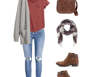 ankle boots, cardigan, and clothes image