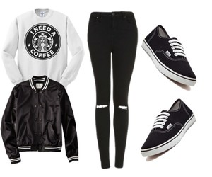 clothes, fashion, and starbucks image