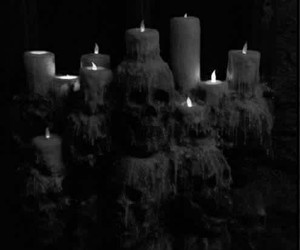 candle, Darkness, and black and white image