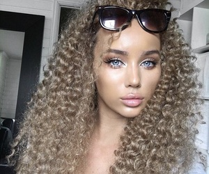 hair, curly hair, and style image