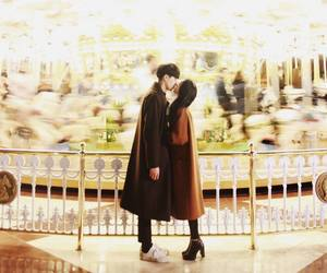 ulzzang, couple, and kiss image