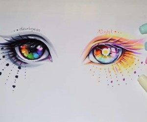 eyes, art, and Darkness image