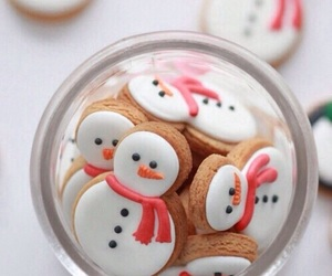 christmas, snowman, and food image