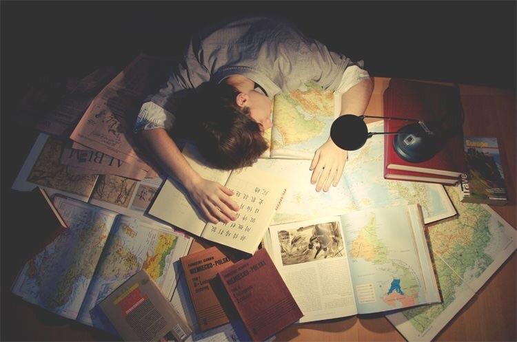 boy, book, and sleep image