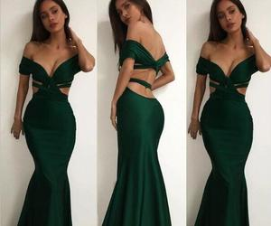 party dress, green prom dress, and sexy prom dress image