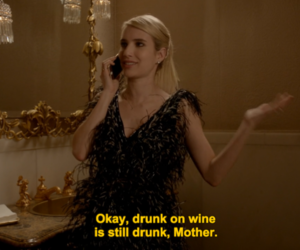 scream queens, emma roberts, and drunk image