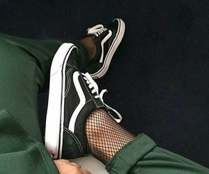 green, pants, and shoes image