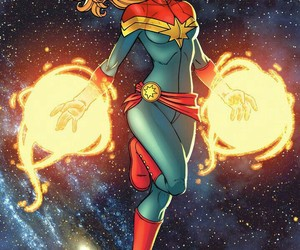 comic, Marvel, and captain marvel image