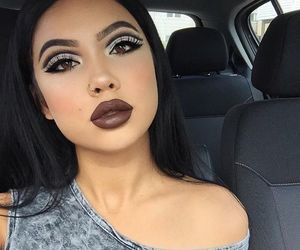 makeup, girl, and baddie image