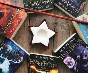 harrypotter, books, and rowling image