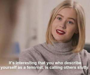 skam, feminism, and quote image