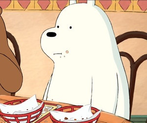 ice bear and eating image