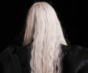 black, blonde, and hair image