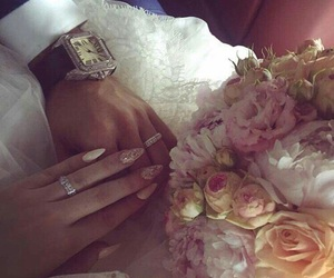 flowers, wedding, and lové image