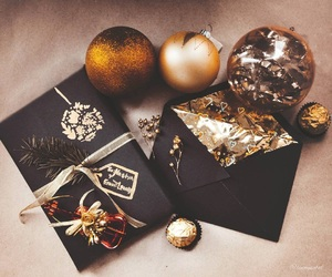black, gifts, and christmas decorations image