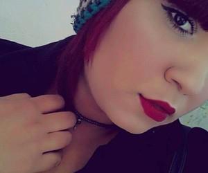 eyeliner, hair, and fashion image