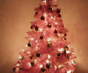 rosa, weihnachten, and albero di natale image