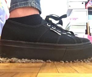 black, shoes, and superga image