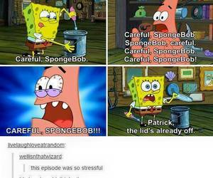 funny, spongebob, and tumblr image