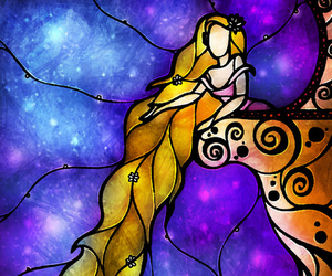 disney, princess, and stained glass image