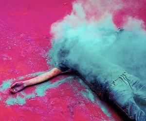 pink, blue, and boy image