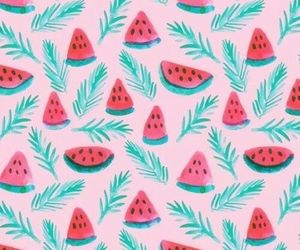 background, watermelon, and lockscreen image