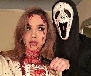 luke hemmings, arzaylea, and Halloween image
