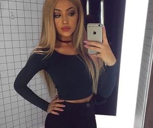 black, fashion, and makeup image
