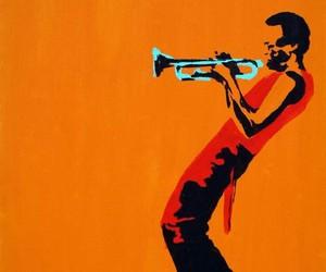 art, musician, and orange image