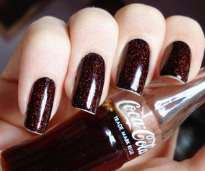 nails, coca cola, and coca-cola image