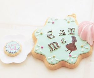 alice in wonderland and food image