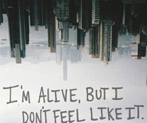 alive, quotes, and sad image