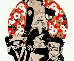naruto, obito uchiha, and kakashi hatake image